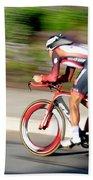 Cyclist Time Trial Beach Towel