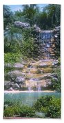 Cypress Garden Waterfalls Beach Towel