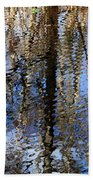 Cypress Reflection Nature Abstract Beach Towel