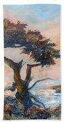 Cypress Tree Coast Beach Towel