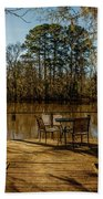 Cypress Trees At Caddo Lake State Park Beach Towel