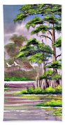 Cypress Trees-wakulla River Florida Beach Towel