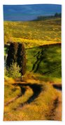 Cypresses Of Toscany Beach Towel