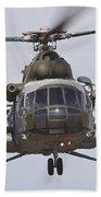 Czech Air Force Mi-171 Hip Helicopter Beach Towel