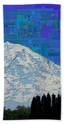 Da Mountain Cubed 1 Beach Towel