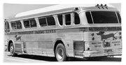Dachshound Charter Bus Line Beach Sheet