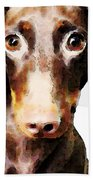 Dachshund Art - Roxie Doxie Beach Towel