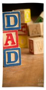 Dad - Alphabet Blocks Fathers Day Beach Towel
