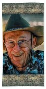 Dad In Cowboy Mood Beach Towel