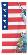 Daddys Home 9/11 Tribute Beach Towel