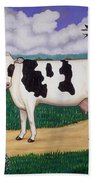 Dad's Prize Milk Cow Beach Towel