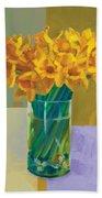 Daffodil Bronze Beach Towel