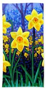 Daffodil Dance Beach Towel