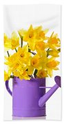 Daffodil Display Beach Towel by Amanda Elwell