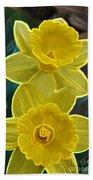 Daffodil Duet By Jrr Beach Towel