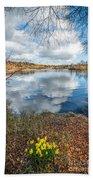Daffodil Lake Beach Towel by Adrian Evans