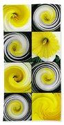 Daffodil Spring Mosaic Beach Towel