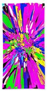 Dahlia Flower Abstract #1 Beach Towel