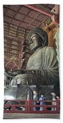 Daibutsu Buddha Of Todai-ji Temple Beach Towel