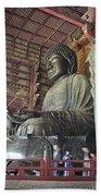 Daibutsu Buddha Of Todai-ji Temple Beach Sheet