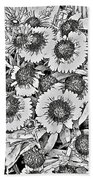 Daisies In Relief Beach Towel
