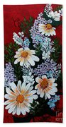 Daisies Lilacs And Forget Me Nots Beach Towel