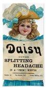 Daisy Headache Cure Beach Towel