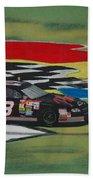 Dale Earnhardt Wins Daytona 500-infield Doughnuts Beach Towel