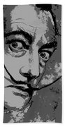 Dali In B W Beach Towel