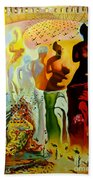 Dali Oil Painting Reproduction - The Hallucinogenic Toreador Beach Sheet