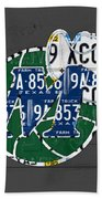 Dallas Mavericks Basketball Team Retro Logo Vintage Recycled Texas License Plate Art Beach Towel