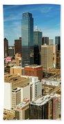 Dallas Skyline As Seen From Reunion Beach Towel