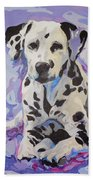 Dalmatian Puppy Beach Towel