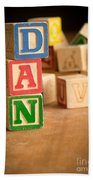 Dan - Alphabet Blocks Beach Towel