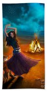 Dance Dervish Fox Beach Towel