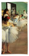 Dance Examination Beach Towel by Edgar Degas
