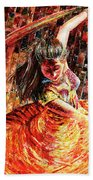 Dance Of Colors Beach Towel