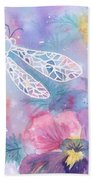 Dance Of The Dragonfly Beach Towel