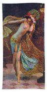 Dance Of The Veils Beach Towel by Gaston Bussiere