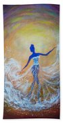 Dancer In White Dress Beach Towel