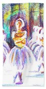 Dancers In The Forest II Beach Towel