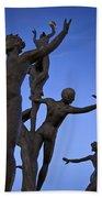 Dancing Figures Beach Towel by Brian Jannsen