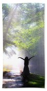 Dancing In God's Light Copyright Willadawn Photography Beach Sheet
