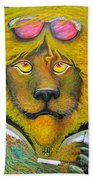 Dancing King Of The Serengeti Discotheque Beach Towel