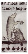 Dancing Pig, 14th Century Beach Towel