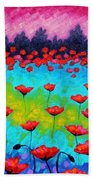 Dancing Poppies Beach Towel