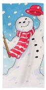 Dancing Snowman Beach Towel