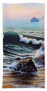 Dancing Tide Beach Towel