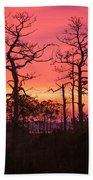 Dancing Trees Into The Fire Beach Towel