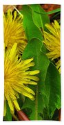 Dandelions Beach Towel